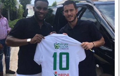 Hazard Regrets Not Playing With Jay Jay Okocha
