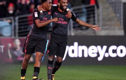 New Signing, Alexandre Lacazette Scores on First Gunners Appearance