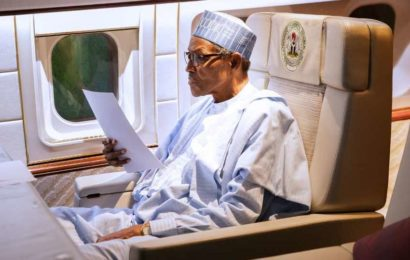 Nigerians Crowd Aso-Rock Itching to Sight President Buhari