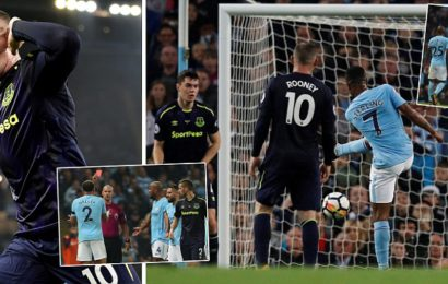 Sterling rescues City in thriller after Rooney stunned Etihad with 200th Premier League goal and Walker and Schneiderlin saw red