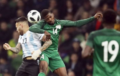 'I Overreacted', Argentine's Otamendi Admits After Shoving Iheanacho