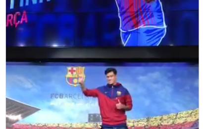 Barca Unveils Philippe Coutinho @ Camp Nou on Sunday (See Video, Photos)