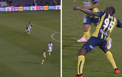 Usain Bolt Dazzles with Goals on Debut as Professional Footballer (Watch Video))